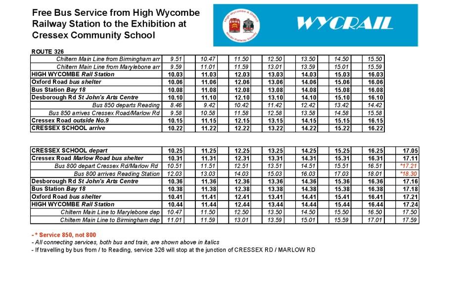 2014 Bus Timetable 1